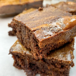 Chocolate Pumpkin Brownie