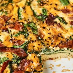 Bacon & Spinach Crustless...