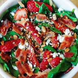 Bacon Strawberry Feta Salad