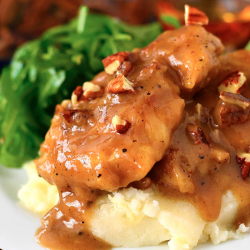 Maple Bourbon Pecan Chicken