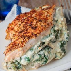 Spinach + Artichoke Stuffed...